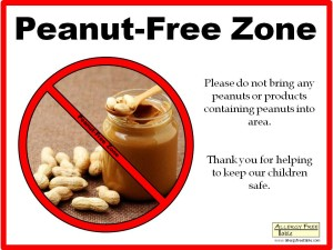 peanut-free-zone-poster